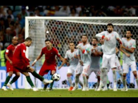 Cristiano Ronaldo marca gol da vitória de Portugal contra o Marrocos | SBT Brasil (20/06/18)