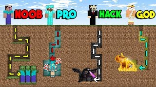 Minecraft Battle: MAZE TREASURE CHALLENGE! NOOB vs PRO vs HACKER vs GOD in Minecraft Animation