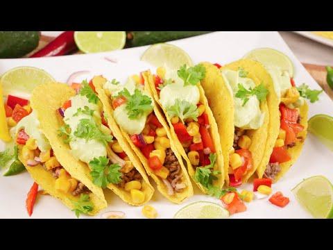 Tacos mit Tex Mex Salat und Avocado / Taco Rezept