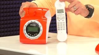 Telefon im Retro-Style mit Metall-Wählscheibe und Retro Hörer