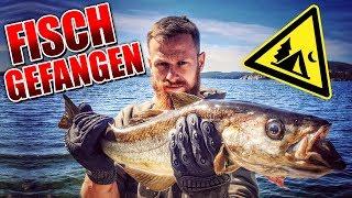 24H BIWAK Fisch gefangen in Norwegen auf Glut im Feuer zubereitet Overnighter Übernachtung G-Klasse