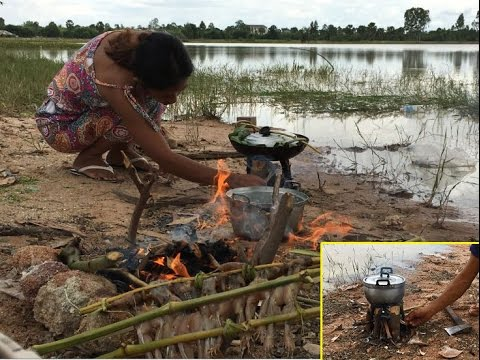 Country food in my village | Khmer food | Cambodian food