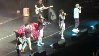 One Direction rapping the Fresh Prince of Bel Air theme song (5/22 Mohegan Sun)