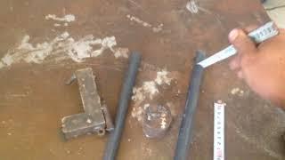 Cách lấy tâm ống sắt để khoan lỗ