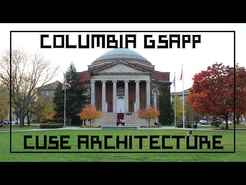 Vlog | VISITING COLUMBIA GSAPP And SYRACUSE ARCHITECTURE