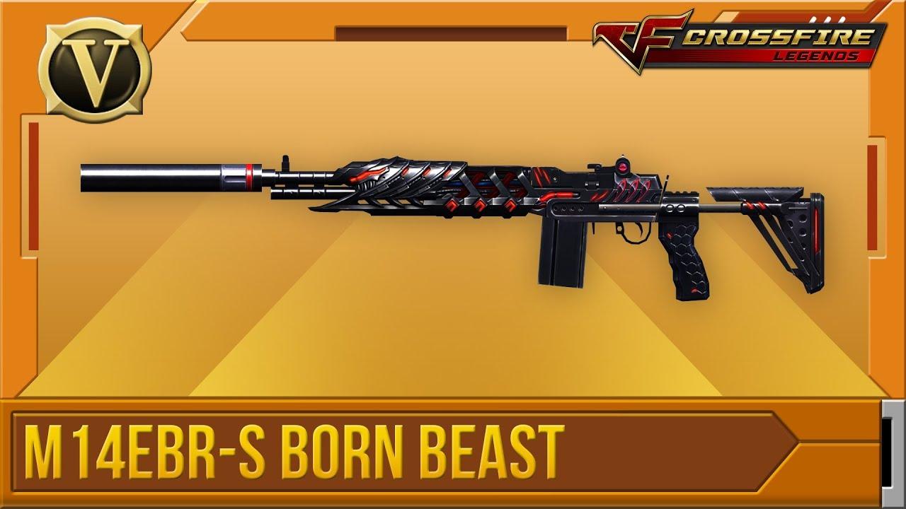Wikia Crossfirelegends: Tổng Quan M14EBR-S Born Beast (VIP