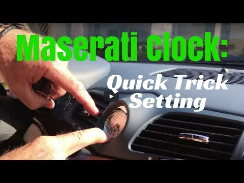 Maserati Clock: How To Quickly Set The Manual Clock On The Dashboard