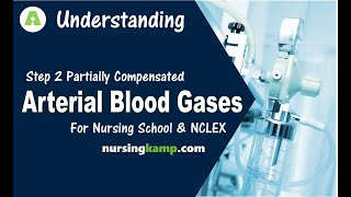 What is Partially Compensated ABG Interpretation Arterial Blood Gas 3 Nursing KAMP NCLEX Review 2019