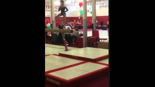 Gymnastics - Holly Anderson on the Vault in Llanelli