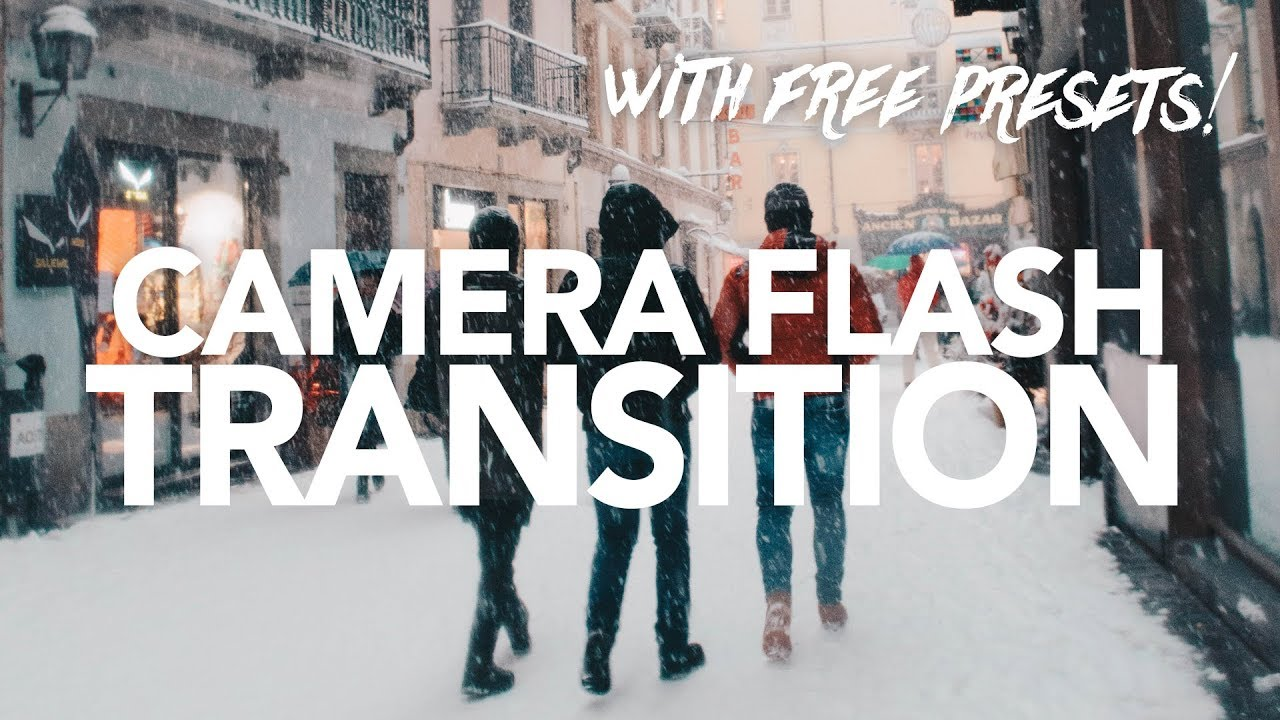 CAMERA FLASH TRANSITION (with FREE presets) - Adobe After Effects Tutorial