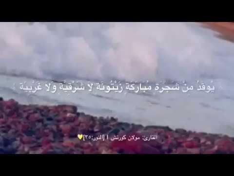الله نور السماوات والأرض مثل نوره كمشكاة فيها مصباح المصباح في