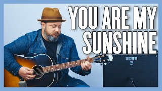 Learn #WithMe - You Are My Sunshine Guitar Lesson + Tutorial - America