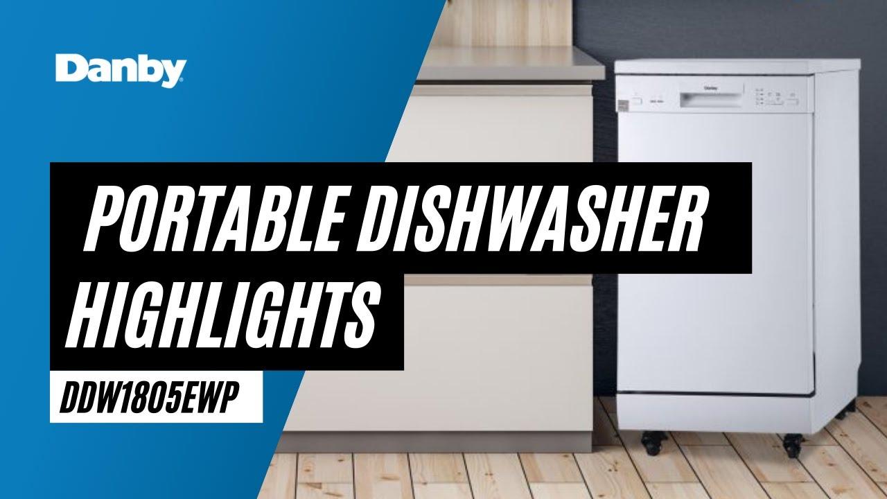 Ddw1805ewp Danby 18 Portable Dishwasher En