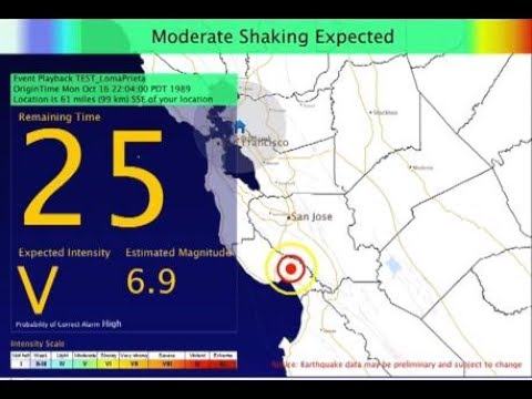 Quick Look: California Earthquake Early Warning System
