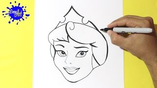 Como dibujar a la bella Durmiente l how to draw sleeping beauty l como dibujar una princesa