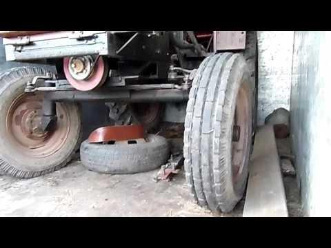 Перевозка самодельного трактора
