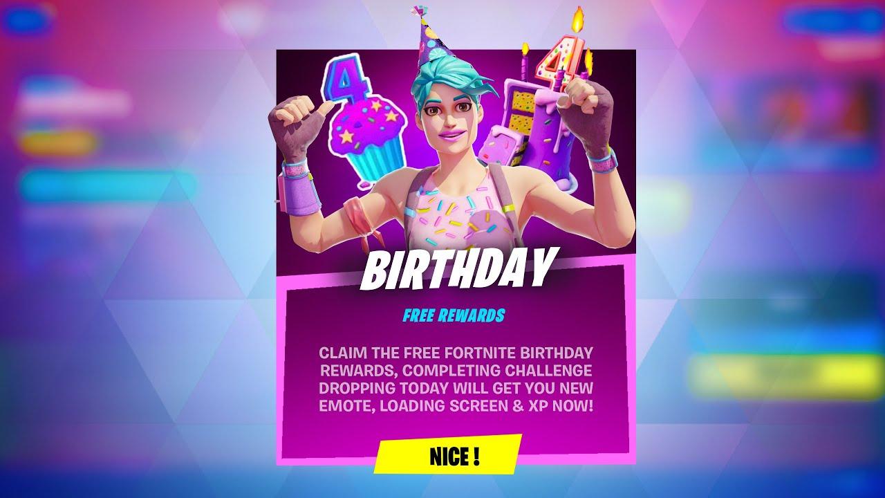 Fortnite Birthday Challenges Reward
