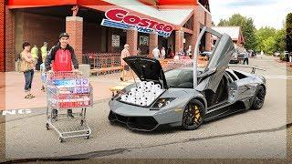 Grocery Shopping in a Lamborghini Murcielago SV!
