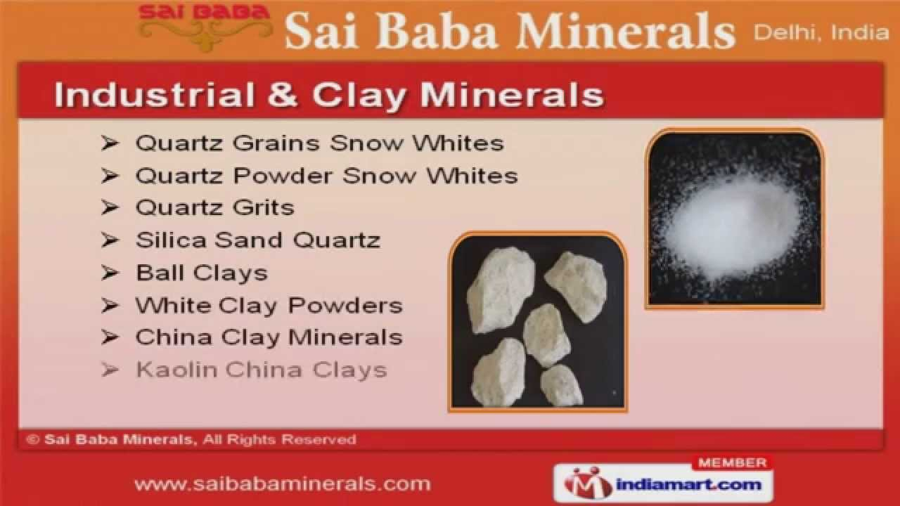 Ceramic And Porcelain Raw Materials by Sai Baba Minerals, New Delhi ...