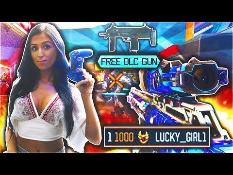 LEVEL 1000 Black Ops 3 #1 Girl Gamer Unlocks NEW FREE DLC WEAPON in BO3 Multiplayer w DooM LuckyGirl