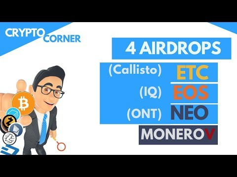 Free Money - ETC, EOS, NEO & Monero Airdrops coming | Crypto Corner wk7