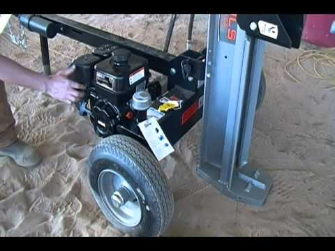 First Start Up And Review Of Dirty Hand Tools 22 Ton Log Splitter