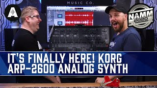 The Wait Is Finally Over! - NEW Korg ARP 2600 Analog Synthesizer - NAMM 2020