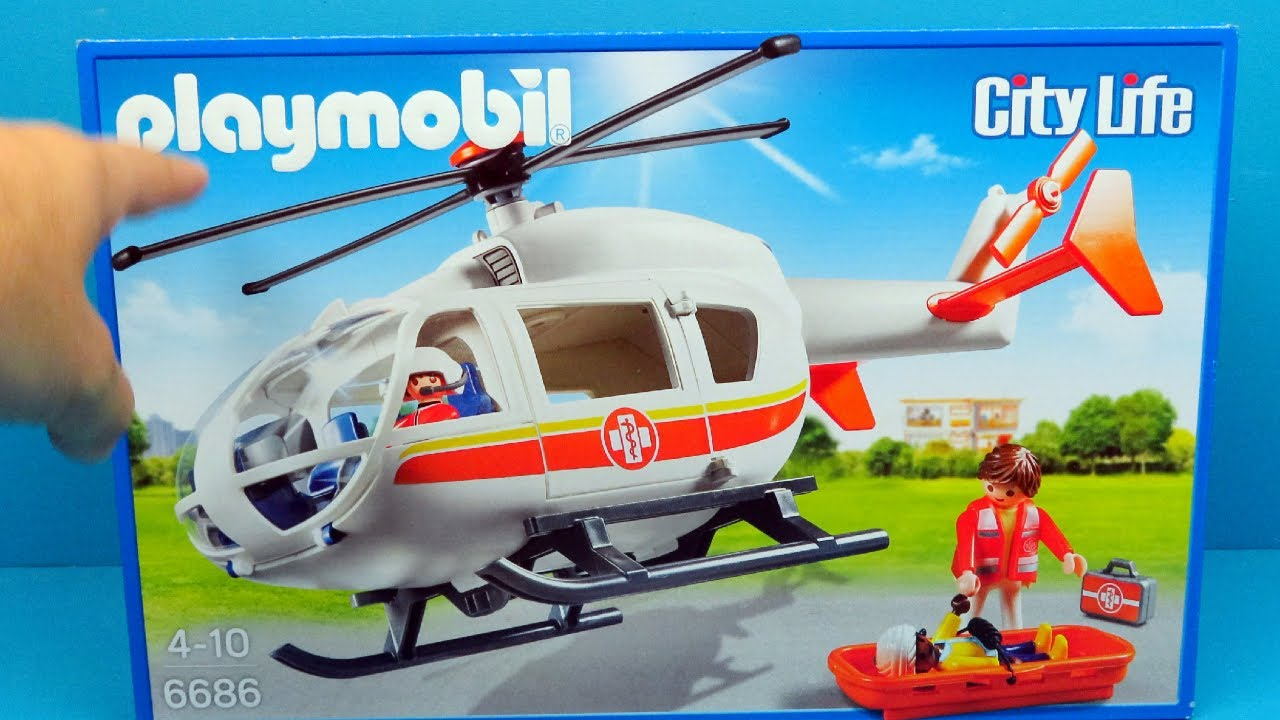 PLAYMOBIL Emergency Medical Helicopter | Toys For Kids
