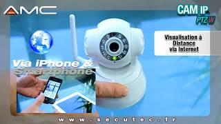 CAMERA IP WIFI INFRAROUGE PILOTABLE A DISTANCE VIA IPHONE, MAC ET PC [SECUTEC.FR]
