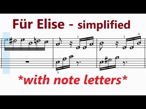 Für Elise Beethoven Very Easy Piano