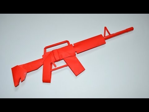 Cómo Hacer una rifle M4 de Papel - paper toy - origami
