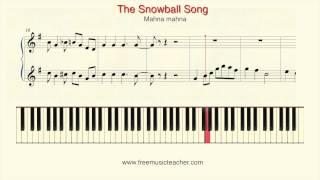 """How To Play Piano: Mah Na Mah Na """"The Snowball Song"""" Piano Tutorial by Ramin Yousefi"""