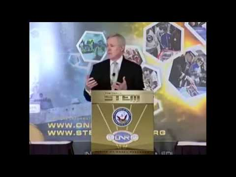 Secretary of the Navy, Honorable Ray Mabus talking about Iridescent!
