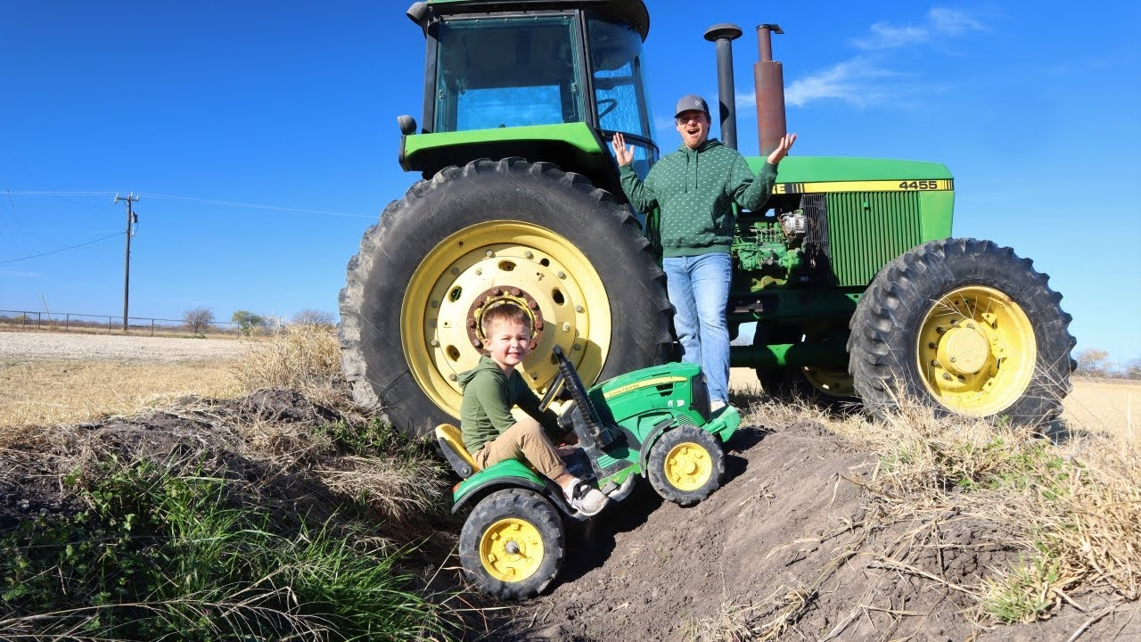 Download Playing in the dirt with tractors on the farm | Tractors stuck in the mud | Tractors for kids
