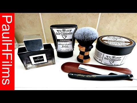 Gold Dollar Straight Razor 💈  Soap Commander  -  Courage