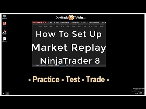 Market Replay Setup  – Ninja Trader 8 How To Video