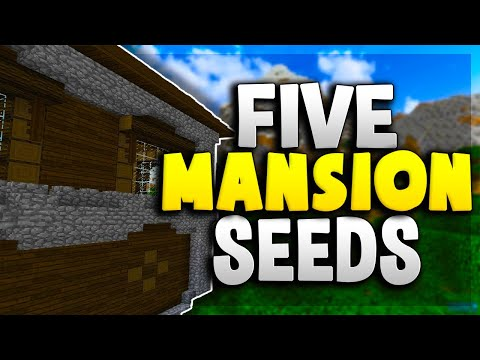 TOP 5 MANSION SEEDS For MINECRAFT 1.12.2!