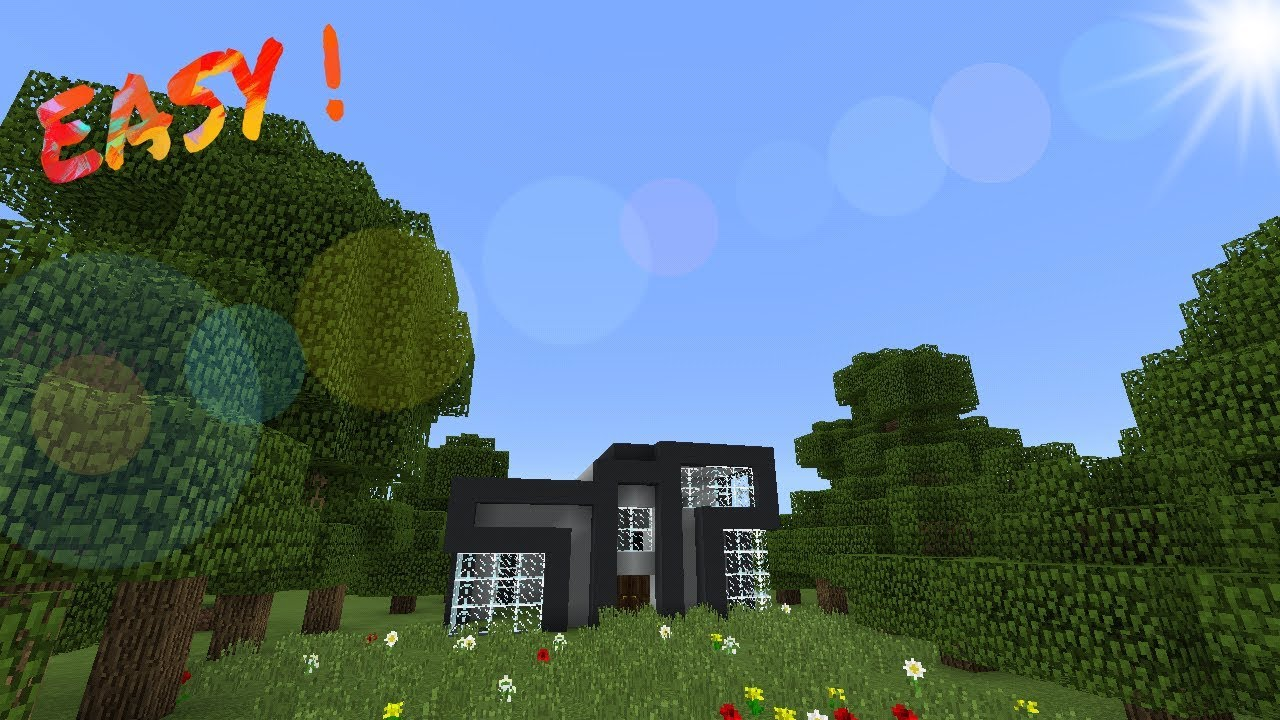 MINECRAFT PE SMALL MODERN HOUSE TIME LAPSE YouTube