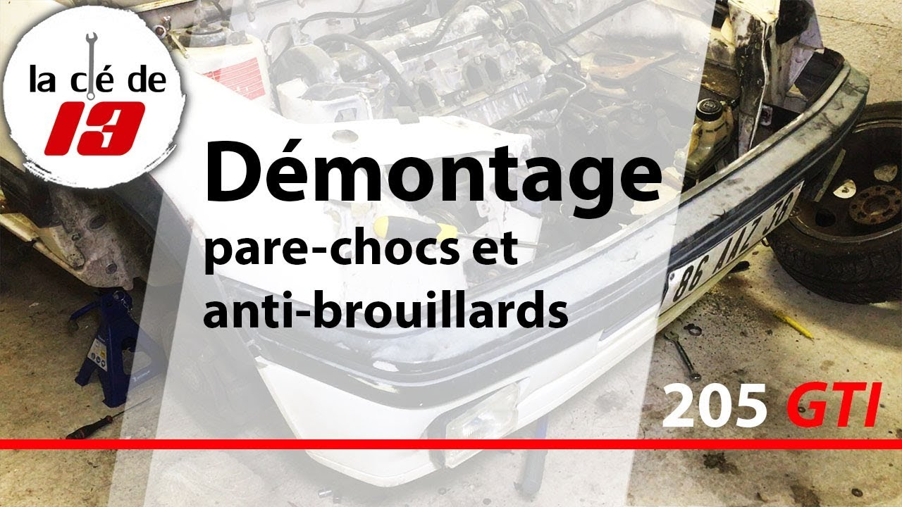 demontage pare choc avant et anti brouillards 205 gti youtube