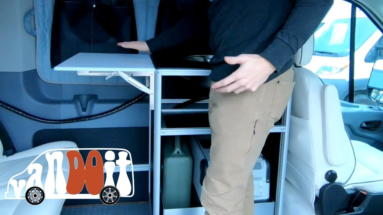 NEW Removable Kitchen Pod With Sink: A VanDOit Adventure Van Option with  Ford Transit