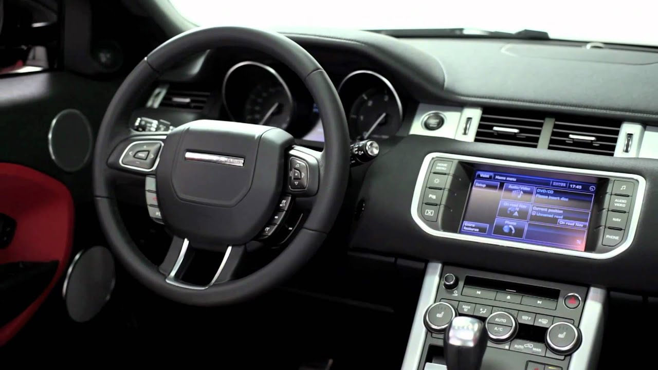 2012 5 door range rover evoque interior youtube for Interieur evoque