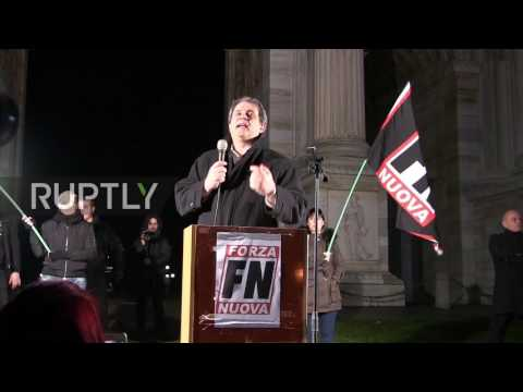 Italy: Far-right nationalists protest against refugees