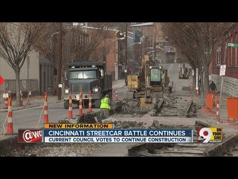 Current council votes to continue streetcar construction