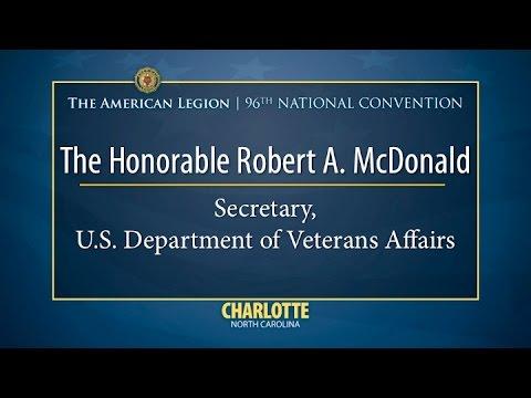 The Honorable Robert A  McDonald, Secretary U S  Department of Veterans Affairs