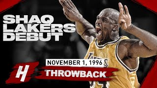 Shaquille O'Neal IMPRESSIVE LAKERS DEBUT! CRAZY Highlights vs Suns | November 1, 1996
