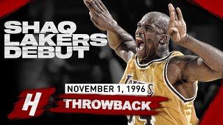 Shaquille O'neal Impressive Lakers Debut! Crazy Highlights Vs Suns   November 1, 1996