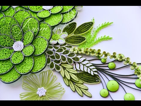 Papercraft Quilling Leaves Tutorial