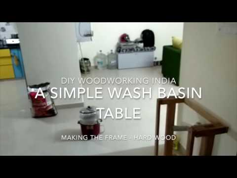 How to build a simple wash basin table - DIY woodworking India