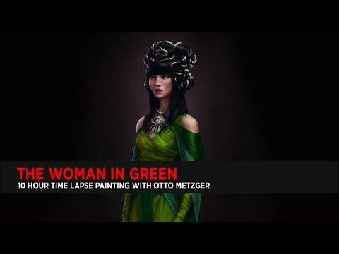 Painting The Woman In Green : Photoshop Speed Paint