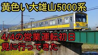 【大雄山線】黄色塗装5000系を見に行った